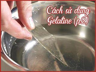 Giải đáp 7 thắc mắc khi làm bánh dùng gelatin
