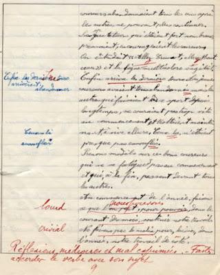 cahier de composition française, école de garçons Schneider et Cie, groupe spécial, élève Jean T., 1928 (collection privée)