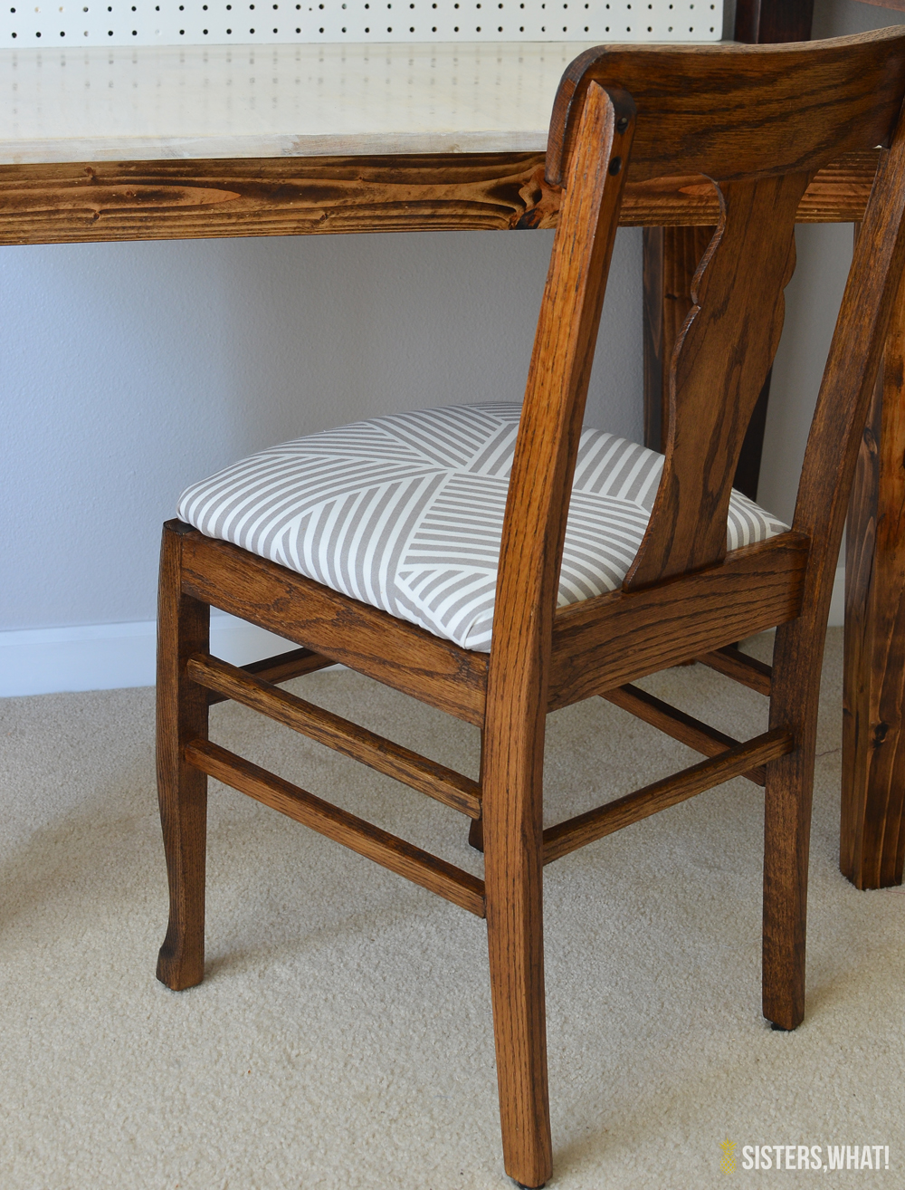 DIY Chair Makeover and refinished from old to new.