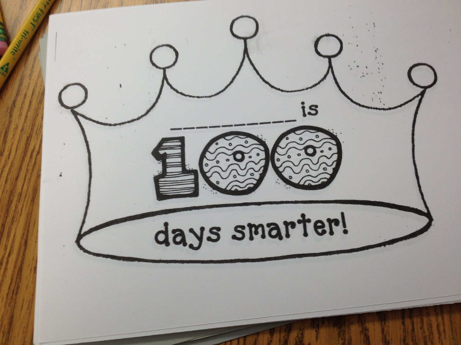 Mrs k 39 s munchkins it 39 s almost the 100th day for 100th day of school crown template