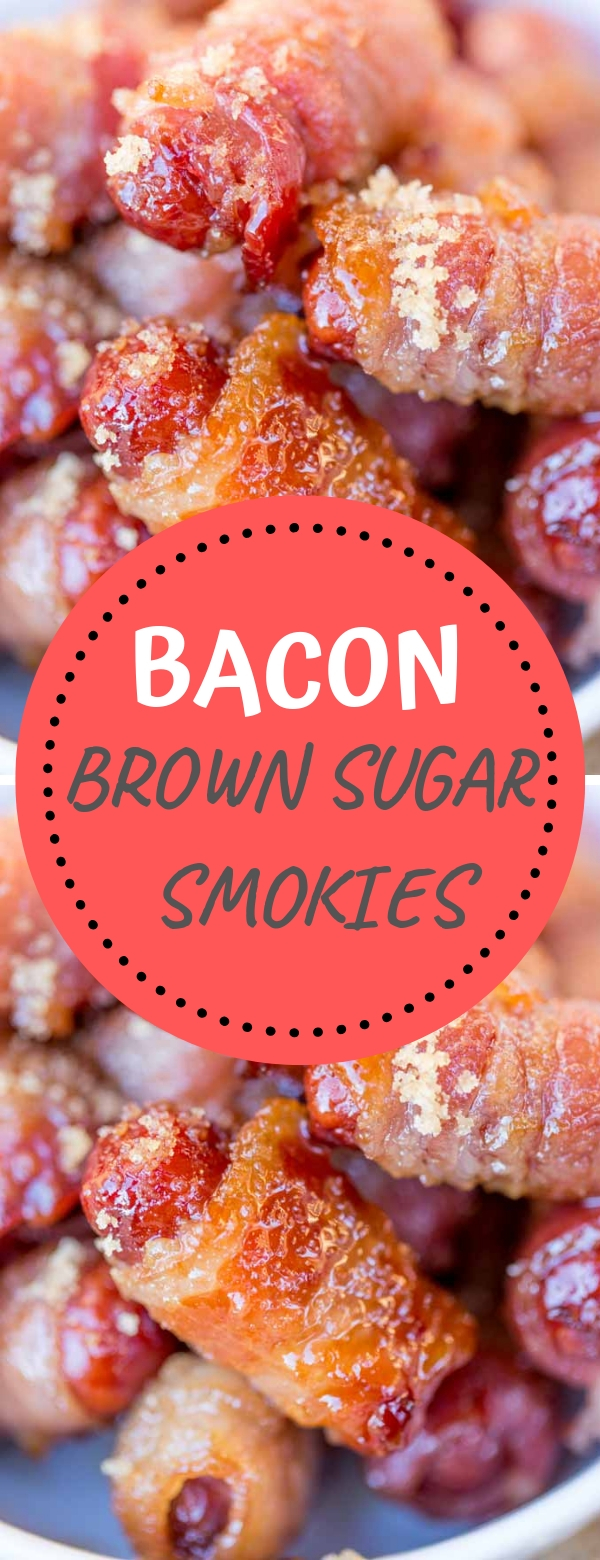 BACON BROWN SUGAR SMOKIES #bacon #smokies