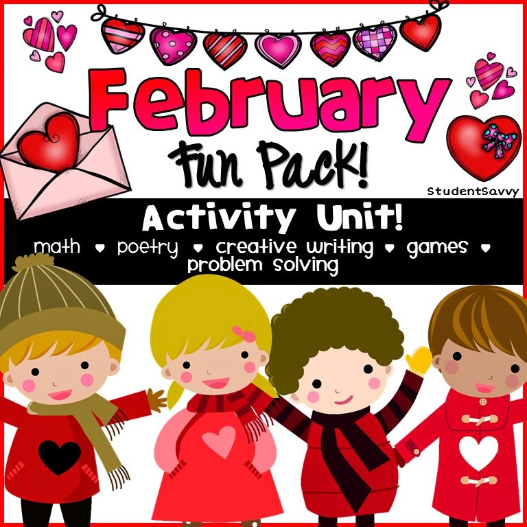 http://www.teacherspayteachers.com/Product/Valentines-Day-February-Fun-Activity-Pack-1648224