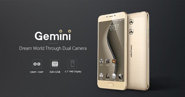 【Ulefone Gemini】1,300万画素のデュアルカメラ搭載端末、Ulefone Gemini登場!フルHDディスプレイも搭載した注目の端末です。