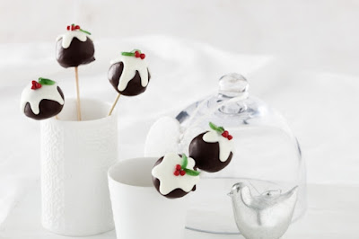 Christmas cake pop puddings Recipe