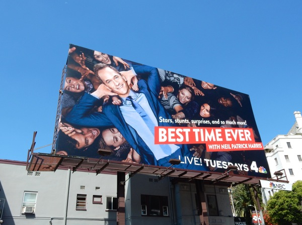 Neil Patrick Harris Best Time Ever billboard
