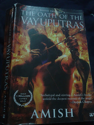 The Oath of the Vayuputras by Amish book cover