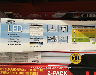 Costco 1012052 - Feit Electric LED 100W Replacement Bulb - Great for pendant lamps, lanterns, ceiling fans, desk lamps