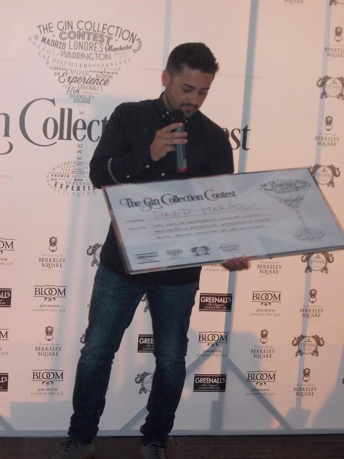 """David Mármol ganador de la II Edición del Concurso Nacional de Coctelería """"The Gin Collection Contest"""""""