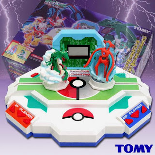 Rayquaza & Deoxys Tomy Data Carrier Pokemon Figure Battle Tower Stadium Set