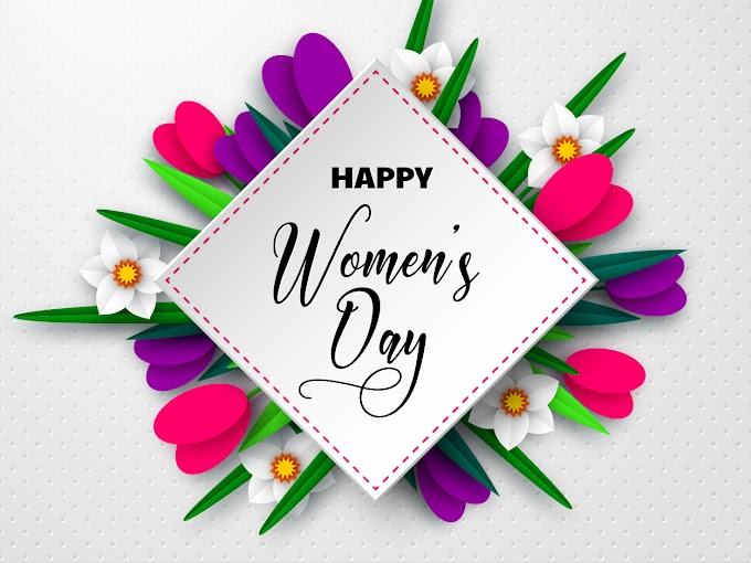 women's day vector Happy women day card with beautiful flowers vector