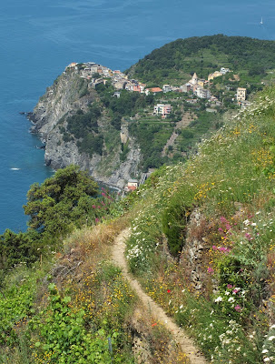Cinque Terre hiking in May. Corniglia from trail 6D
