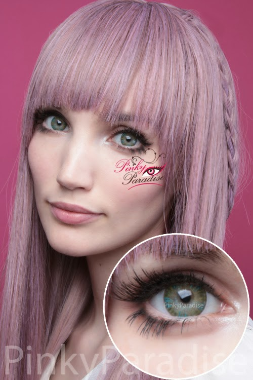 Vassen Rainbow Eyes Greenish Blue Circle Lenses (Colored Contacts)