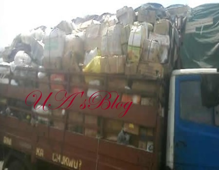 BREAKING: Customs seize truckload of weapons, codeine, Tramadol in Owerri