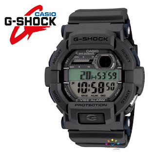 CASIO G-Shock GD-350-8 Military Watch (Grey Edition with Vibration Alarm)