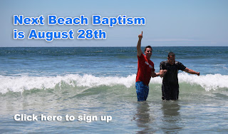 Beach Baptisms THIS Sunday`