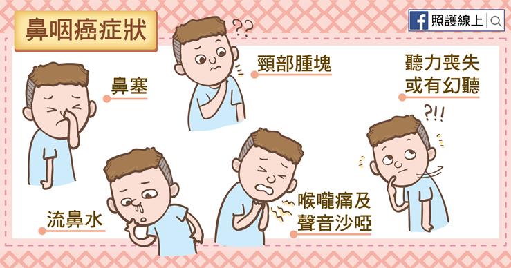 血痰、鼻塞、喉嚨痛、頸部腫塊。當心鼻咽癌(懶人包) - 照護線上