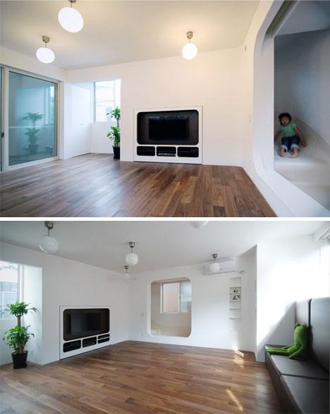 tambin integraron otros diseos y espacios orientados a los nios por toda la casa como por ejemplo una sala de juegos con pelotas un espacio de arte y