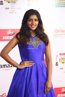 Eesha in Cute Blue Sleevelss Short Frock at Mirchi Music Awards South 2017 ~  Exclusive Celebrities Galleries 018.JPG