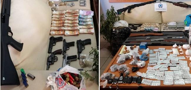 Όπλα, ναρκωτικά και δεκάδες χιλιάδες ευρώ βρήκαν οι Αρχές κατά την έφοδό τους σε καταυλισμούς Ρομά