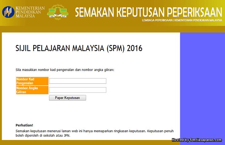 Keputusan SPM 2016