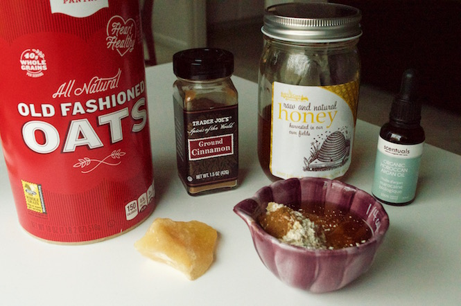 Oatmeal & Honey Mask Ingredients