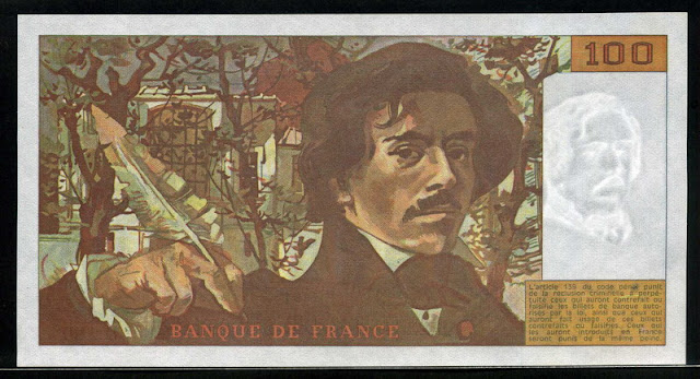 bank France French Francs euro banknotes
