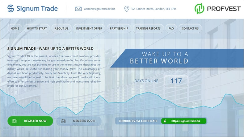 Signum Trade LTD обзор и отзывы HYIP-проекта