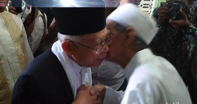 Terungkap, Ternyata Mbah Moen yang Tunjuk Ma'ruf Amin Jadi Cawapres Jokowi