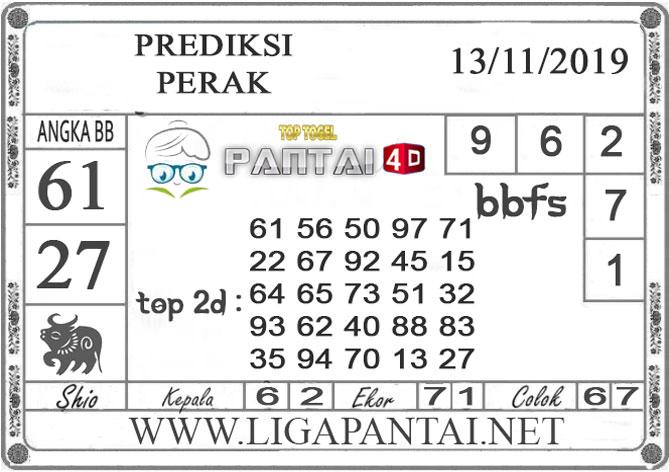 """PREDIKSI TOGEL """"PERAK"""" PANTAI4D 13 NOVEMBER 2019"""