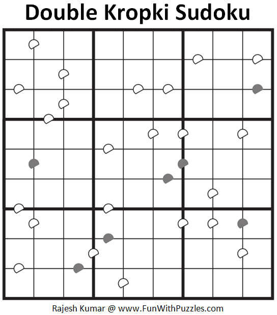 Double Kropki Sudoku Puzzle (Daily Sudoku League #217)