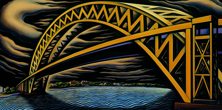 Doctor Ojiplático. Anne Bascove. Bridges & Cityscapes. Oil Painting
