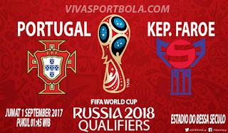 Prediksi Portugal vs Kepulauan Faroe 1 September 2017