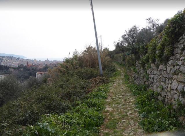 sentiero 521 verso Rebocco alla Spezia