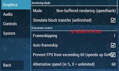 Setting PPSSPP Android Di RAM Yang Kecil Agar Lancar