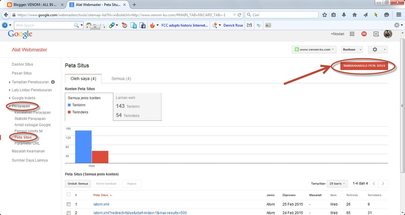 peta situs google webmaster