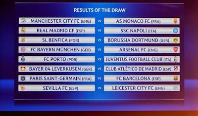Champions League final 16 2017