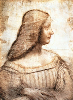 A charcoal sketch of Isabella by Leonardo for a portrait that was never completed