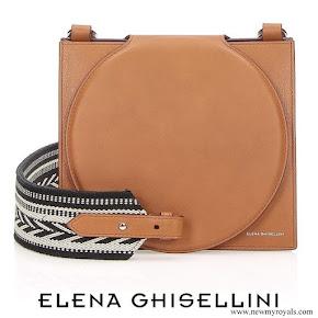 Queen Rania carried Elena Ghisellini Cercle Maya Shoulder Bag