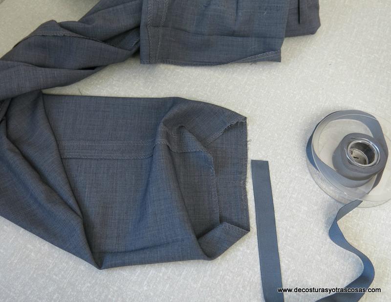 como coser cinta taconera