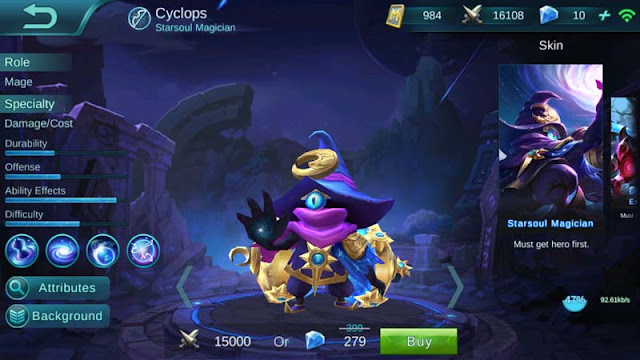 Guide New Hero Cyclops Starsoul Magician Mobile Legends Bang Bang