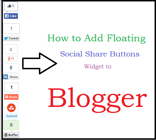 floating social shares