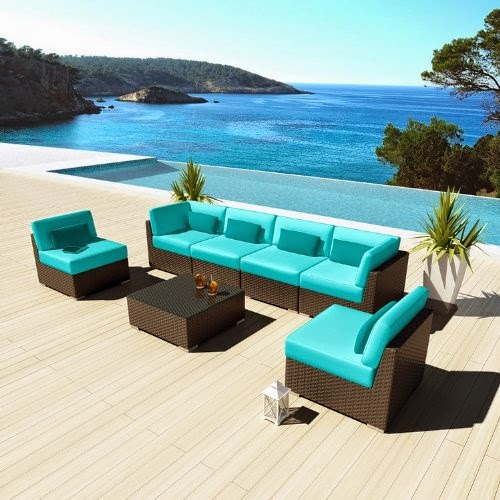 Uduka Outdoor Sectional Patio Furniture Sofa