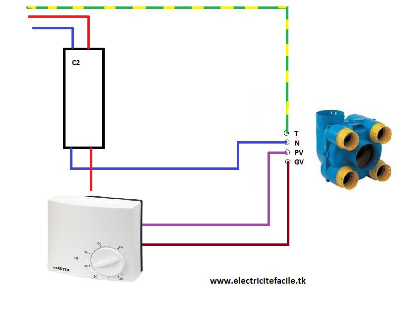 schema de raccordement electrique vmc avec hygrostat schema electrique. Black Bedroom Furniture Sets. Home Design Ideas