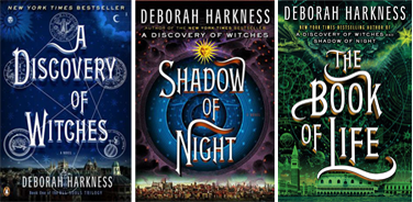 The All Souls Trilogy by Deborah Harkness - Picture displays A Discovery of Witches, Shadow of Night and The Book of Life