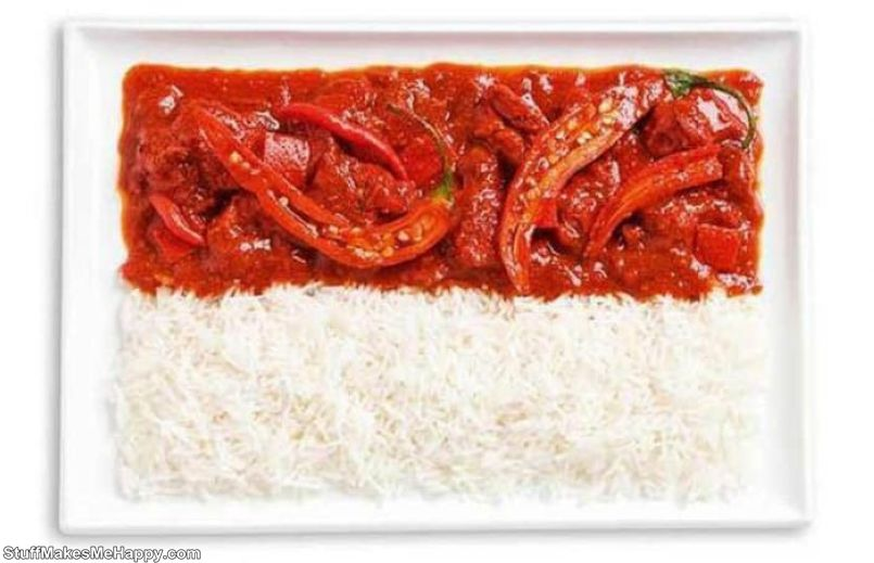 14. Indonesia - spicy curry, rice, saambal sauce