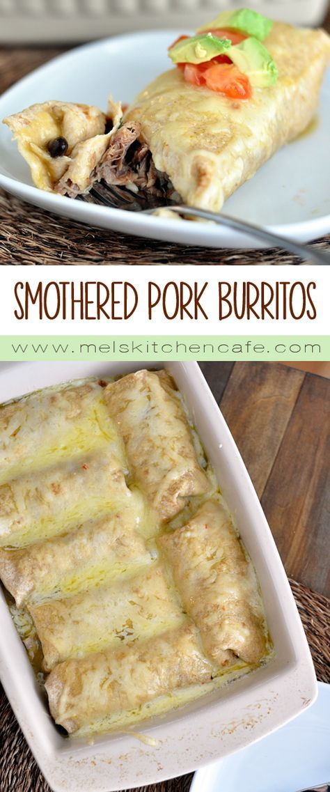 SMOTHERED SWEET PORK BURRITOS