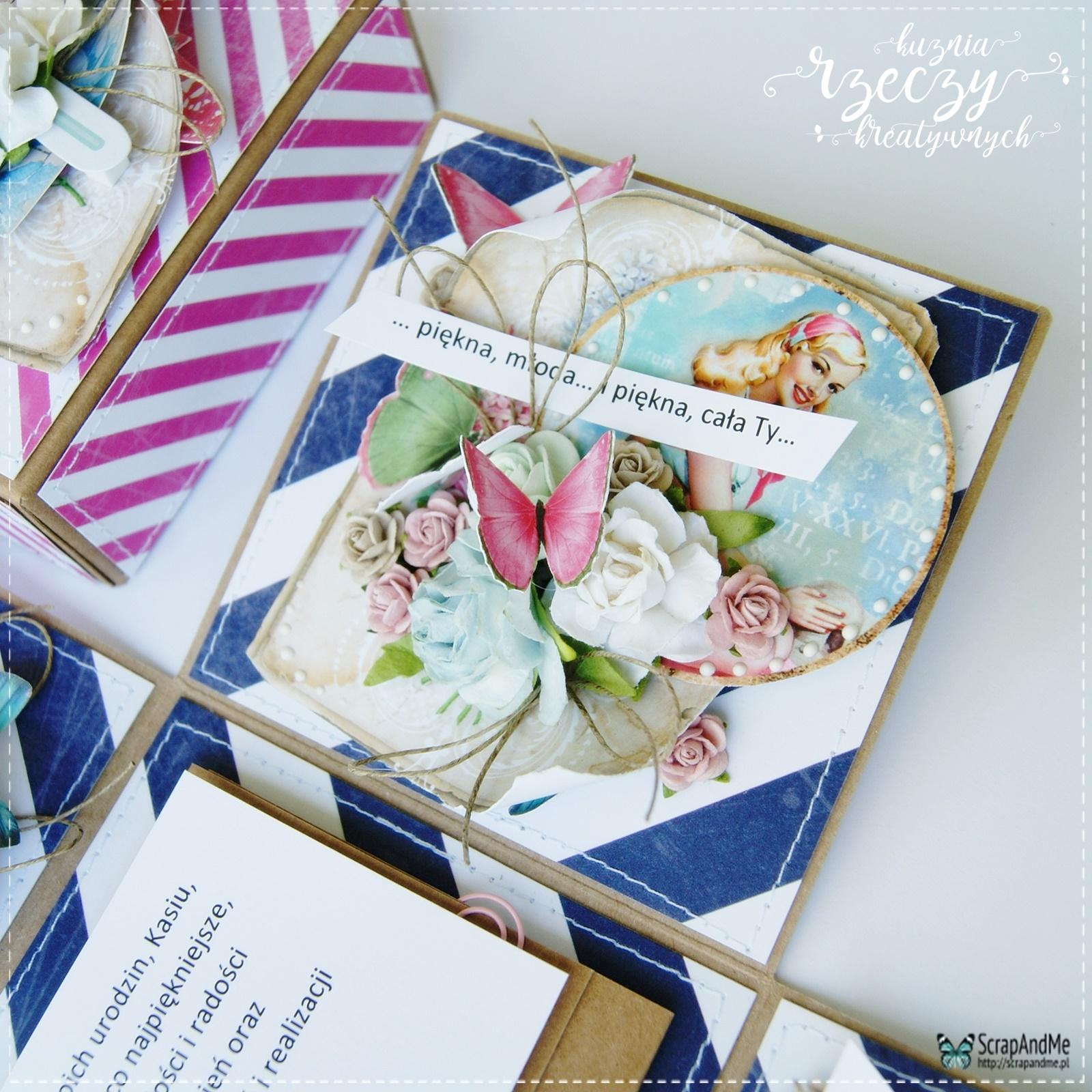 Urodzinowy, kreatywny exploding box dla fantastycznej i wyjątkowej kobiety.