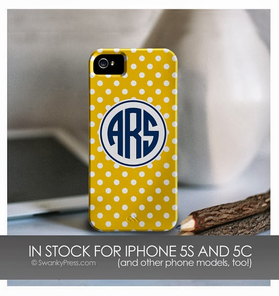 Preppy Monogrammed Iphone Cases