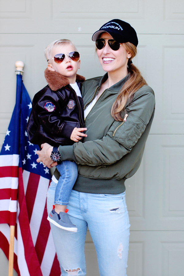 Mother-son Top Gun Halloween costume