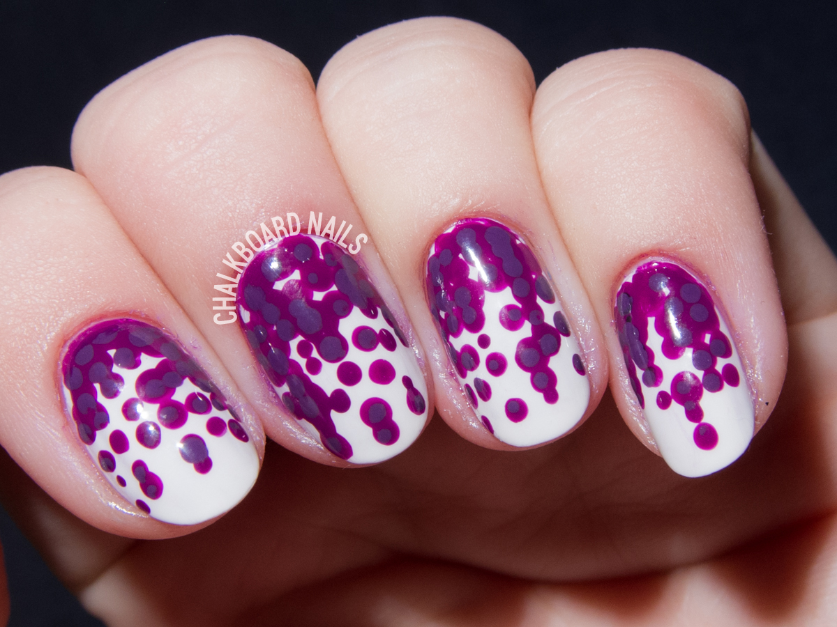 Orchid petal inspired nail art by @chalkboardnails